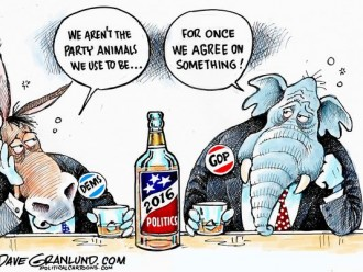 Editorial cartoon by Dave Granlund for the Desert Sun (March 16, 2016).