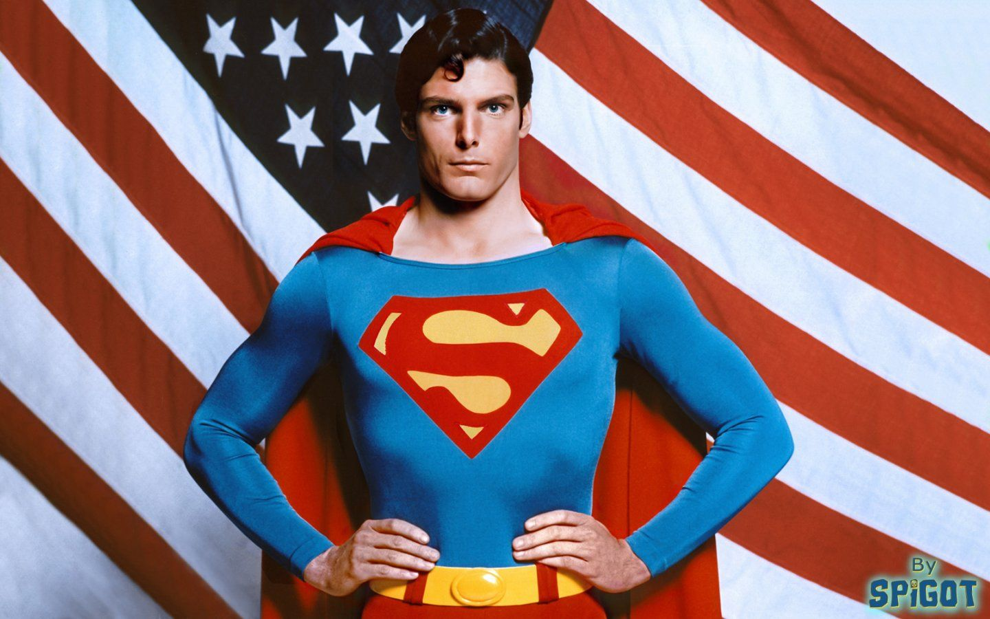 Christopher Reeve in his iconic role as Superman.